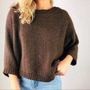 VINCE | Alpaca Wool Kimono Sleeve Shawl Sweater S